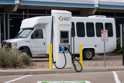Lightning Energy provides everything needed for charging electric commercial fleet vehicles