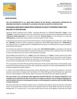 Josemaria Resources Announces Increase in Equity Offerings from C$25 Million to C$30 Million (CNW Group/Josemaria Resources Inc.)