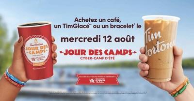 Tim Hortons® annonce la tenue prochaine de son Jour des campsMC annuel, le 12 août, qui appuiera cette année le Cyber-Camp Tim Hortons® (Groupe CNW/Tim Hortons)