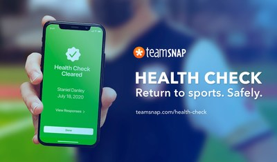 TeamSnap launches new COVID-19 health screening tool to help youth sports teams and organizations manage the safe return to sport. (CNW Group/TeamSnap)