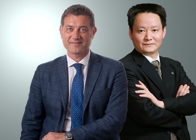 Franco Fontana, CEO Esaote Group and Xie Yufeng, Chairman WDM (PRNewsfoto/Esaote S.p.A.)
