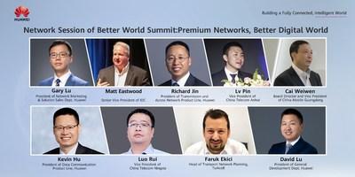 Palestrantes de destaque da IDC, China Telecom Anhui, China Mobile Guangdong, China Telecom Ningxia, Turkcell e Huawei (PRNewsfoto/Huawei)