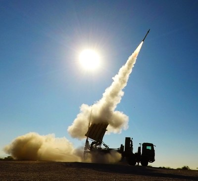 An Iron Dome launcher fires a Tamir missile to protect the citizens and infrastructure of Israel. Raytheon Missiles & Defense and RAFAEL have signed a joint venture to establish an Iron Dome Weapon System production facility in the United States. (Photo: RAFAEL)