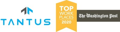 Tantus Technologies was also named a Top Washington-Area Workplace in 2020.