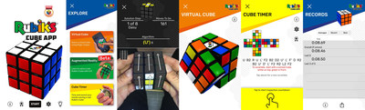 Screenshots of the new Rubik's Official Cube App launching on September 1 2020 (picture credit: Rubik's Brand)