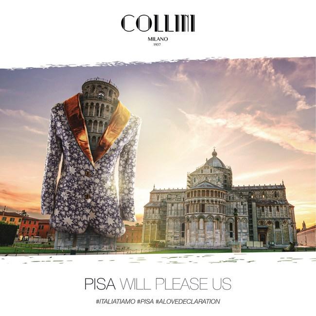 Pisa, A Love Declaration campaign by COLLINI Milano, #ItaliaTiAmo, #Love #Italy