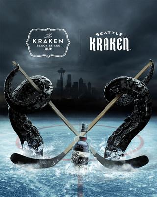 Kraken On Ice: Kraken Rum Announces Official Partnership with NHL's Newest Team, Seattle Kraken
