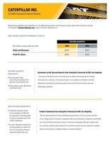Caterpillar Reports Second-Quarter 2020 Results