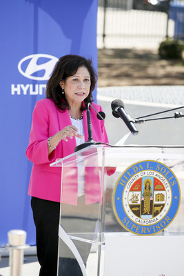 Hyundai and Hyundai Hope on Wheels announce new essential Service at a COVID-19 drive thru testing site in Boyle Heights on July 30, 2020 in Boyle Heights, CA. (Photo by Ryan Miller/Capture Imaging)