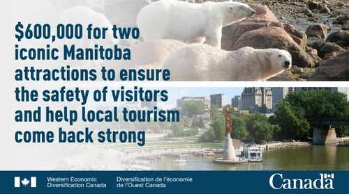 Government of Canada announces funding for two key Manitoba tourist destinations (CNW Group/Western Economic Diversification Canada)