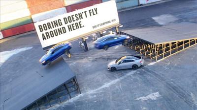 "Kia Motors' All-New K5 Flies Through the Air in Breathtaking ""Triple Threat Stunt"""