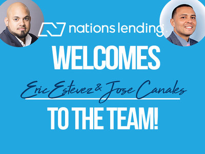 Nations Lending is proud to welcome Eric Estevez and Jose Canales as new branch managers in Bayonne and Fairlawn, New Jersey.
