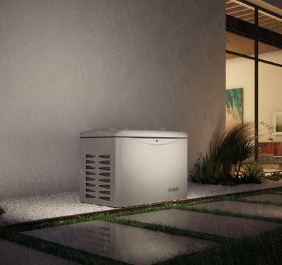 An automatic standby generator, like this one from KOHLER, is piece of electrical equipment that is permanently installed outside a home, similar to a central air conditioning (AC) unit. It runs on natural gas or liquid propane (LP) and is wired into a home's electrical system. When power is lost, the standby generator automatically kicks in – generally within seconds – and can power any hard-wired systems and appliances.