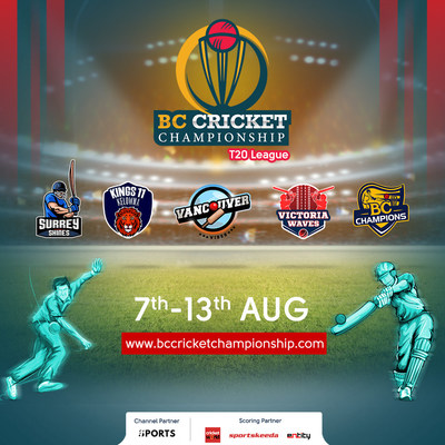 BC Cricket Championship is bringing Cricket back to your screens! Mark your calendars! Catch all the action live on One Sports, India from 7th Aug - 13th Aug. You don't want to miss this one! (PRNewsfoto/BC Cricket Championship)