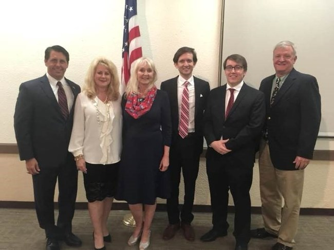 From left: Chairman George Moraitis, Republican State Commiteewoman Michele Merrell, Secretary Nancy Cooke, Republican State Committeeman Richard DeNapoli, Treasurer Jeff Brown, and Vice Chair Tom Powers