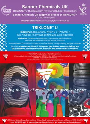 TRIKLONE™ U Caprolactam Tyre and Rubber Conveyer Belting F-Polymer Banner Chemicals UK