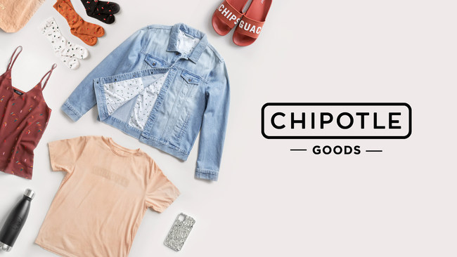 Chipotle is launching a responsibly sourced line of Chipotle Goods, made with organic cotton, and branded accessories. Today Chipotle Rewards' 15 million members will have first access to the collection by using a special password shared via email. The Chipotle Goods line will be available for the public beginning August 4.