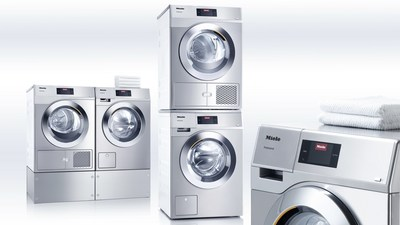 The all new Miele Little Giants are available in Lotus White or Stainless Steel, and either side-by-side or stacked configuration. Miele Little Giants washing machines and dryers are available for order by contacting an authorized manufacturer representative/dealer or reaching Miele Professional directly at 1-800-991-9380 or online at www.mieleusa.com/pro/littlegiants.