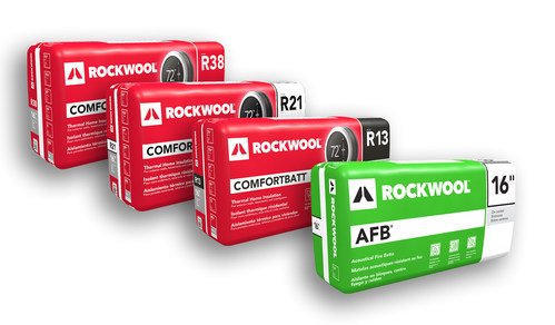 ROCKWOOL now offers new, innovative, and expanded options when it comes to insulation for thermal and sound applications.  ROCKWOOL has expanded its Comfortbatt® line to include several new R-values (R13, R21 and R38).  The company has also released AFB® for wood stud applications—an acoustical fire batt that is now available in new dimensions designed for wood stud cavities. (CNW Group/ROCKWOOL (North America))