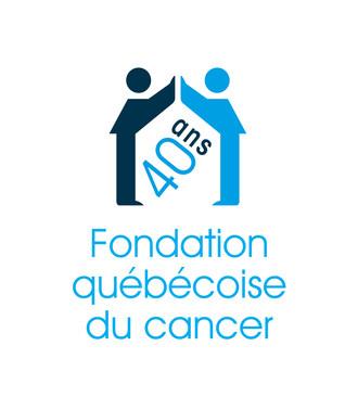 Logo 40 ans - Fondation québécoise du cancer (Groupe CNW/Fondation québécoise du cancer)