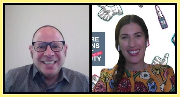 Steve Weigler (left) and Jodi Katz (right) discuss brand protection.