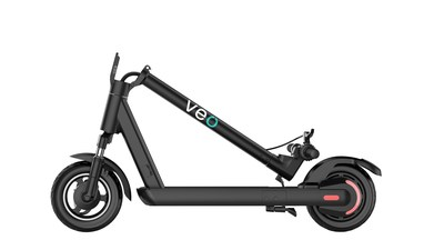 Veo Astro Go now available for purchase has turn signals and folds in half for portable and safe transport in the wake of COVID-19