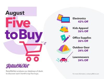 RetailMeNot's Five to Buy in August