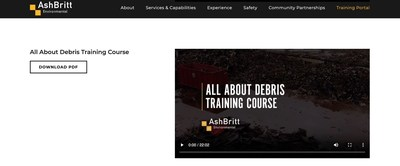 AshBritt's online training portal provides critical educational resources digitally as an innovative response to the challenges of in-person trainings.