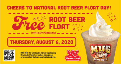 Wienerschnitzel Celebrates National Root Beer Float Day By Offering Guests a Free Root Beer Float with Purchase