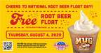 Hamburger Stand Treats Customers to a FREE Root Beer Float With Purchase on National Root Beer Float Day