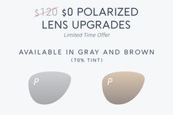 Free Polarized Lens Upgrades Limited Time Offer at JINS Eyewear