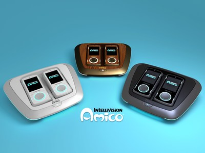 Intellivision Amico Video Game Console - Available in Glacier White, Vintage Woodgrain, Graphite Black and Galaxy Purple (not pictured above).