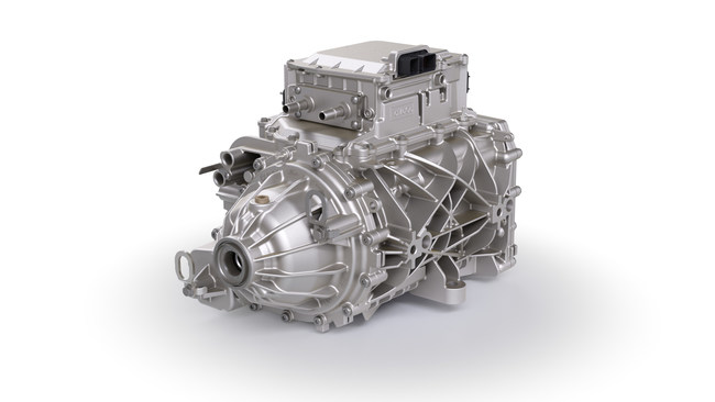 The iDM comes complete with a BorgWarner gearbox integrated with a motor and power electronics from other suppliers, and showcases the company's extensive knowledge of system integration.