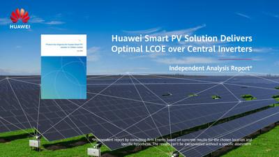 El informe de un análisis independiente indica que la solución fotovoltaica inteligente de Huawei ofrece un LCOE óptimo en comparación con los inversores centrales