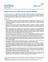Keyera Announces 2020 Second Quarter Results (CNW Group/Keyera Corp.)