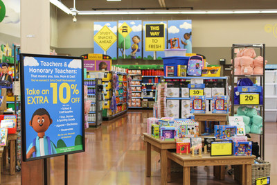 Kroger is offering teachers, school administrators and parents who shop on Wednesdays a 10% discount on general merchandise, including school and craft supplies.