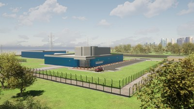 Impression of a Moltex Energy power plant.  Image courtesy of Moltex Energy, Ltd.