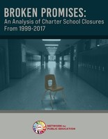 Half of nation's charter schools fail during first 15 years; nearly a million students have been stranded by closed charters.