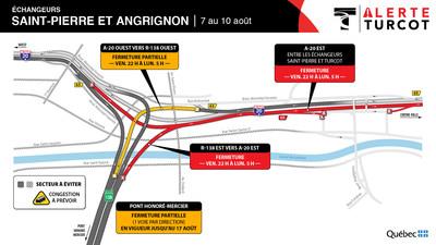 Entraves ? Échangeur Saint-Pierre et Angrignon (Groupe CNW/Ministère des Transports)