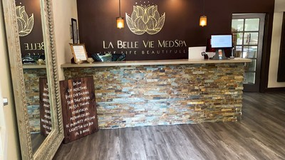 Welcome to La Belle Vie MedSpa & Wellness Center, our reception area is great to great  you.