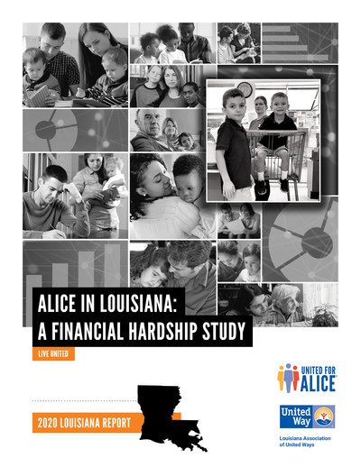 The updated report, ALICE in Louisiana: A Financial Hardship Study provides parish-by-parish and town-level data on the size and demographics of ALICE as well as the community conditions and costs faced by ALICE (Asset Limited, Income Constrained, Employed) households. For more information or to find data about ALICE in local communities, visit www.UnitedForALICE.org/Louisiana.. View or download a full copy of ALICE in Louisiana: A Financial Hardship Study at www.launitedway.org/ALICE.