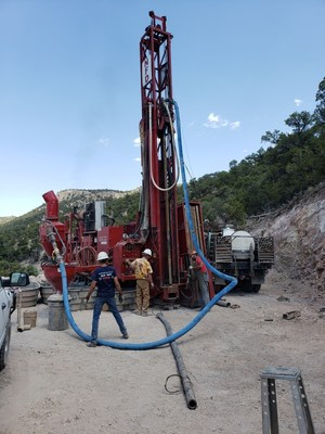 Figure 1: RC Drilling at the Kinsley Mountain Gold Project (CNW Group/New Placer Dome Gold Corp.)