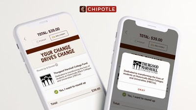 From August 6 – 23, guests can round-up their change to the next highest dollar amount on the Chipotle app or Chipotle.com to support the Thurgood Marshall College Fund.