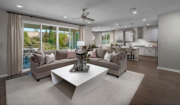 Richmond American's Teagan home is modeled at Cerrito at Vanden Estates in Vacaville, California.