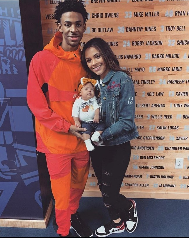 Baby Kaari Attends Her first Grizzlies's Game. Ja Morant, point guard, and his girlfriend KK Dixon and daughter Kaari