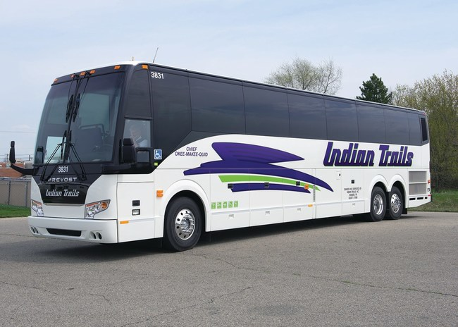 Indian Trails motorcoach, ready to roll