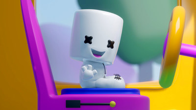 DJ Marshmello makes his first animated appearance as 'Lil Mello in latest Mellodees video.
