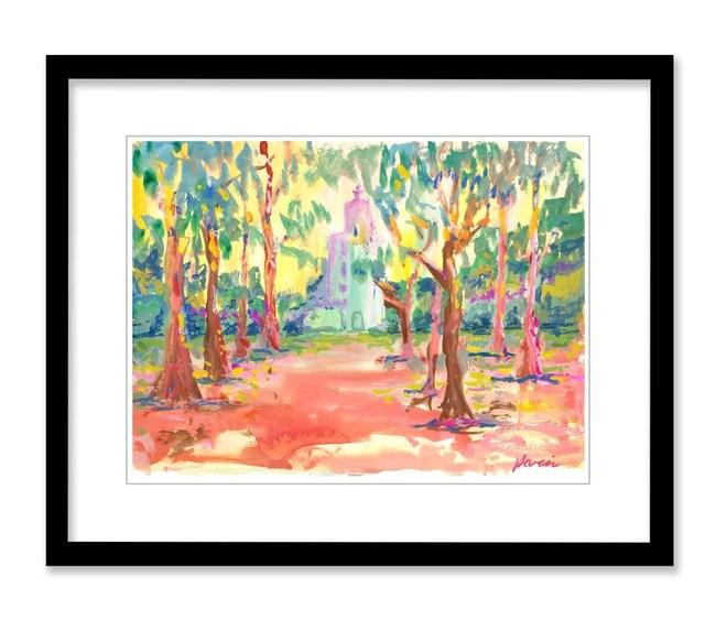 """California Mission"" watercolor Artist: Jerry Garcia"
