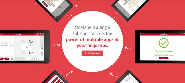 OneDine mobile-optimized experience begins for guests at home, at work, or on the go with Online Order Ahead, and continues on-premises with mobile menu-browsing, ordering, and PurePay™ contactless payment solutions.