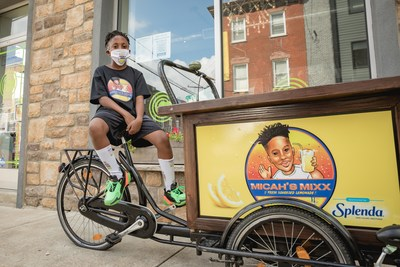 Sweet Dreams. 10-year-old Micah Harrigan looks forward to growing his Micah's Mixx lemonade stand and reaching more customers throughout Philadelphia. Helping with that, national brand Splenda® low-calorie sweeteners surprised him with a college scholarship check, a custom Micah's Mixx-branded bike and years' worth of Splenda.